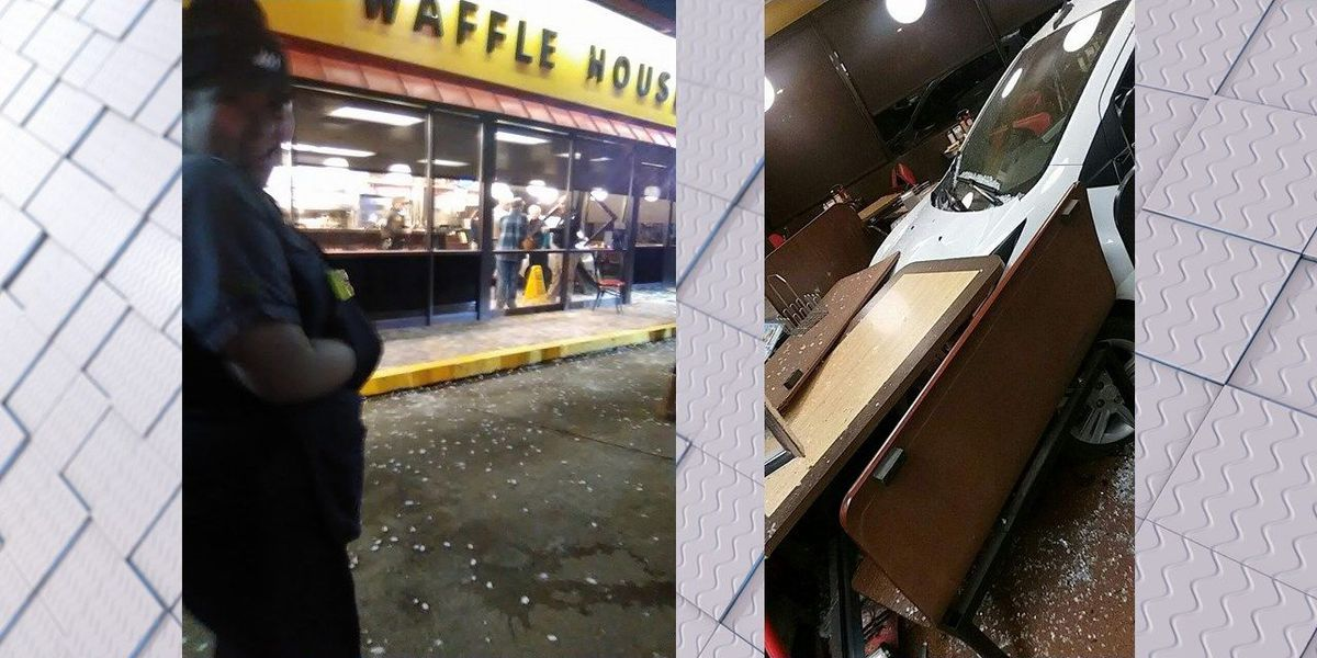 Drive through window: Car ends up in Waffle House