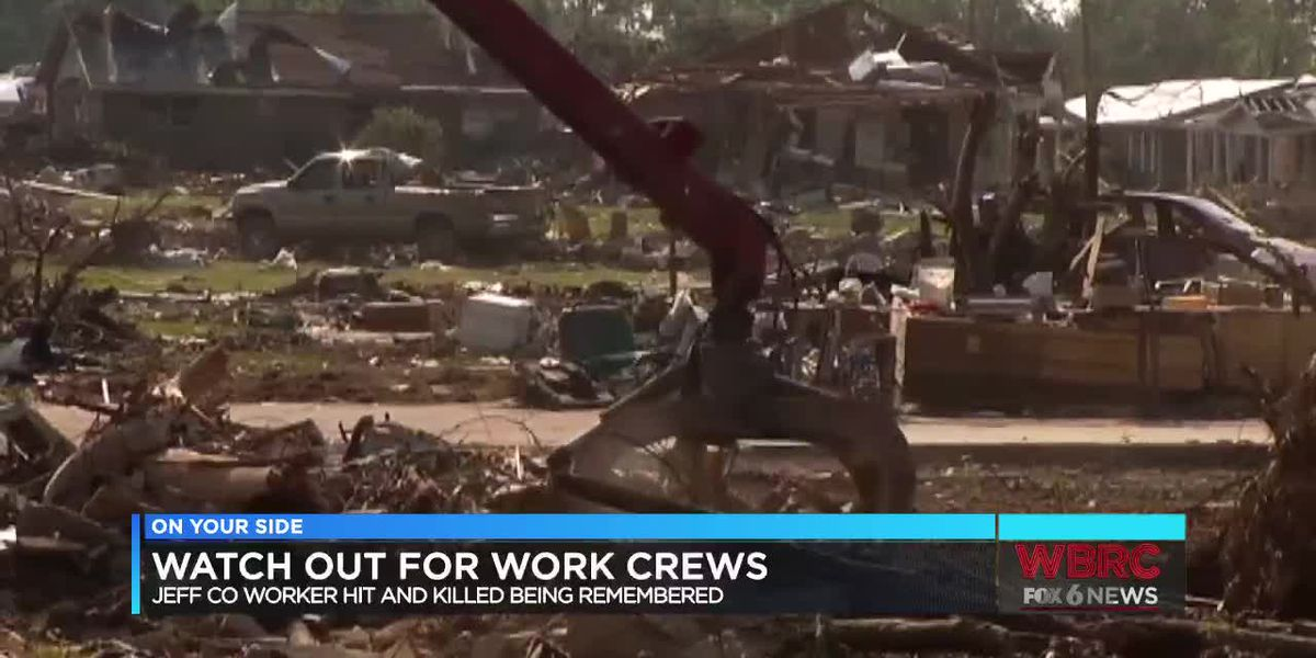 Watch for crew workers after storm damage