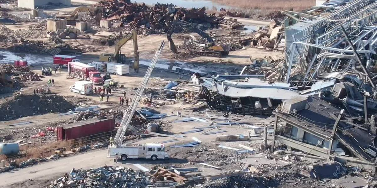 Sheriff: Search dogs pick up scent at collapsed power plant; crews searching spot now