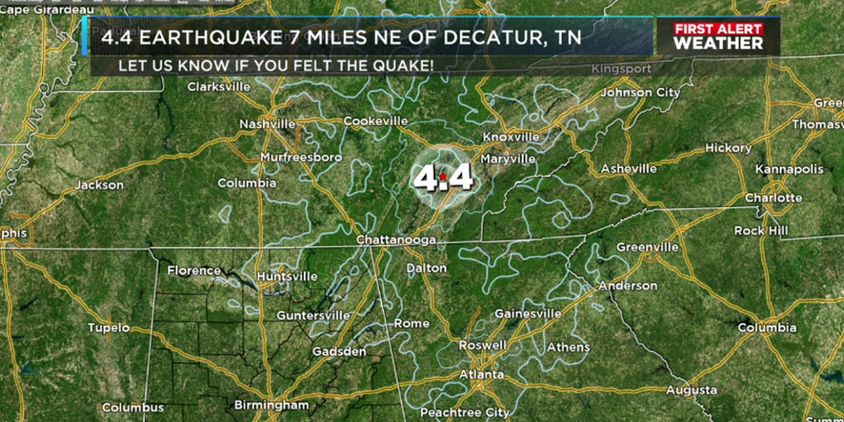 Did you feel it? TN earthquake affects parts of AL