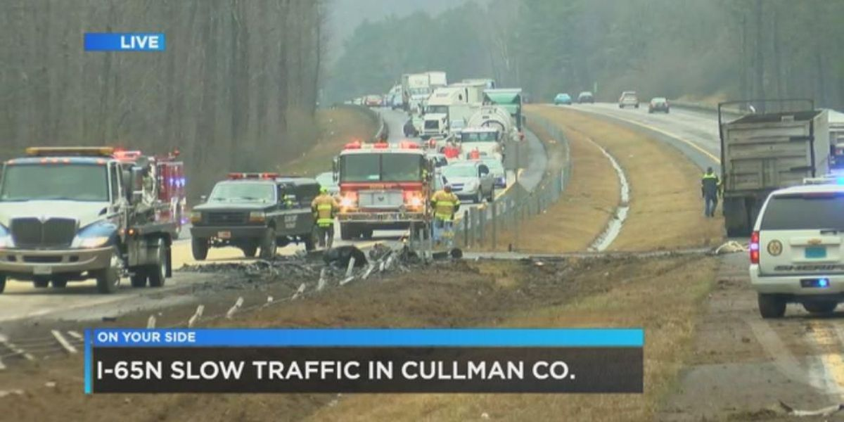 UPDATE: I-65 reopens in Cullman Co. after 18-wheeler crash