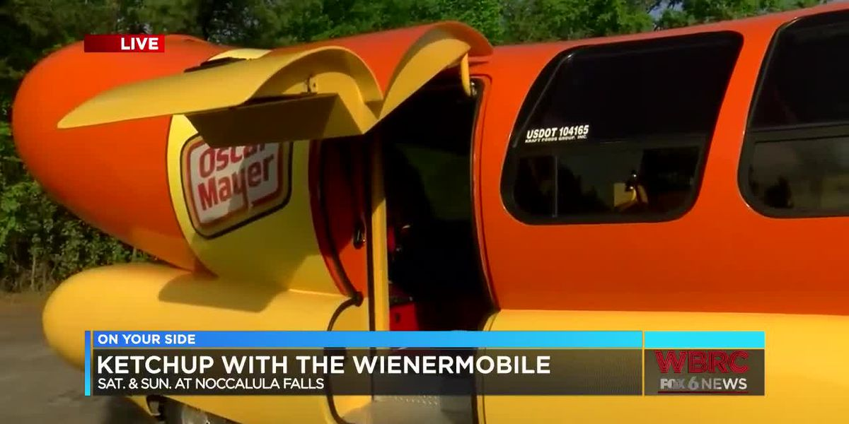Wienermobile at Noccalula Falls this weekend