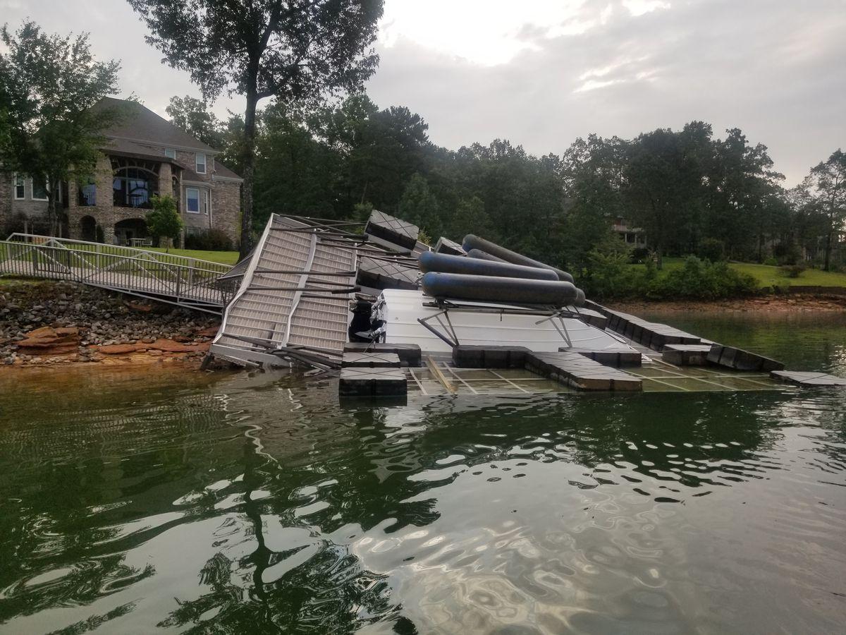 Storm damage at Smith Lake