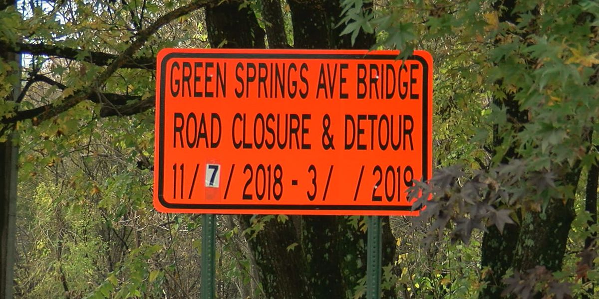 Green Springs Avenue bridge to close on Wednesday leaving drivers concerned