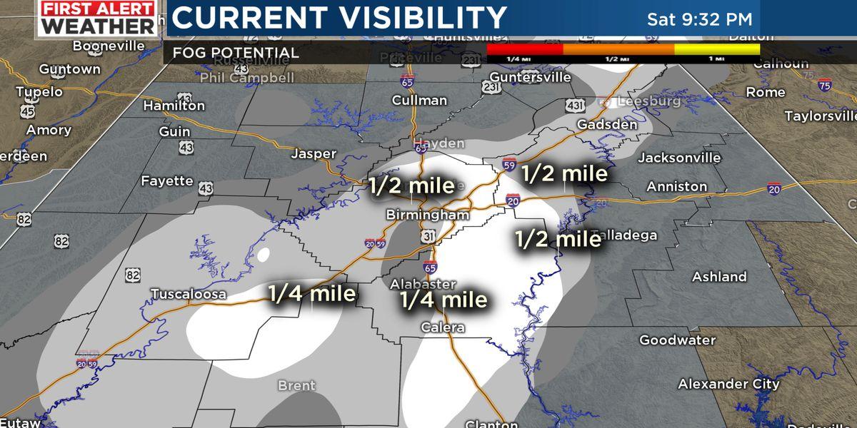 Fog likely overnight