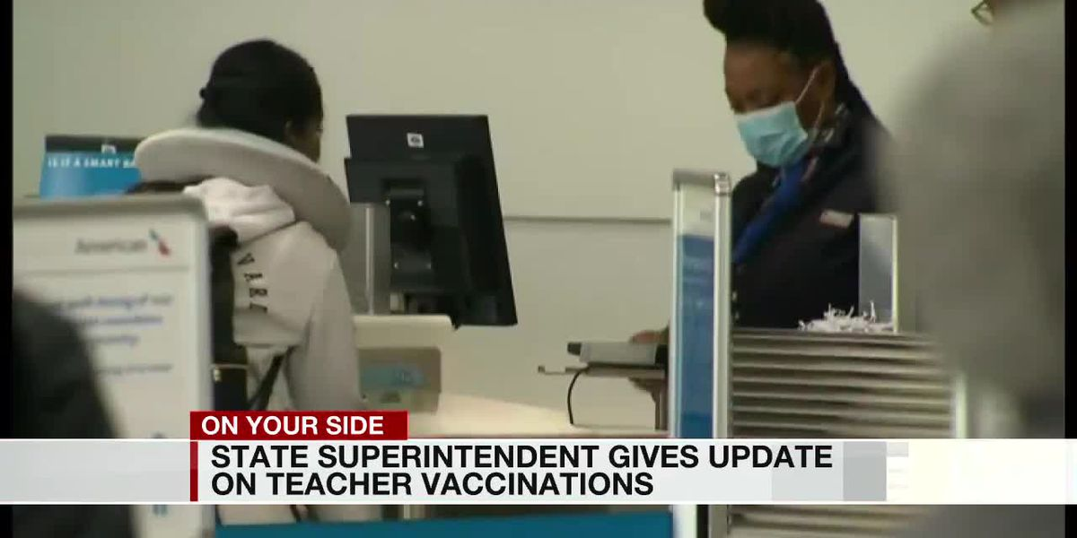 State Superintendent Gives Update on Teacher Vaccinations
