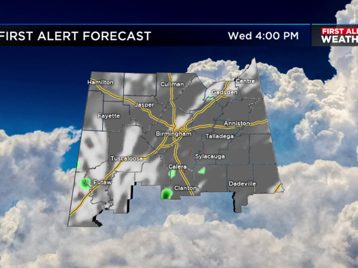 FIRST ALERT: Widely scattered storms possible Wednesday
