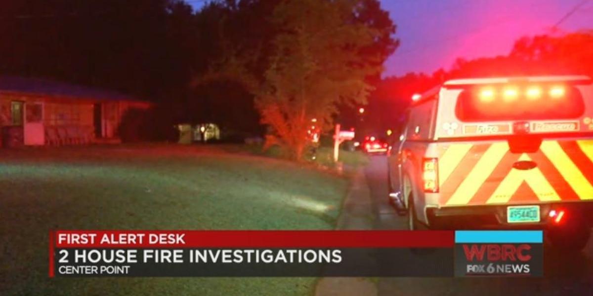 2 house fires under investigation in Center Point