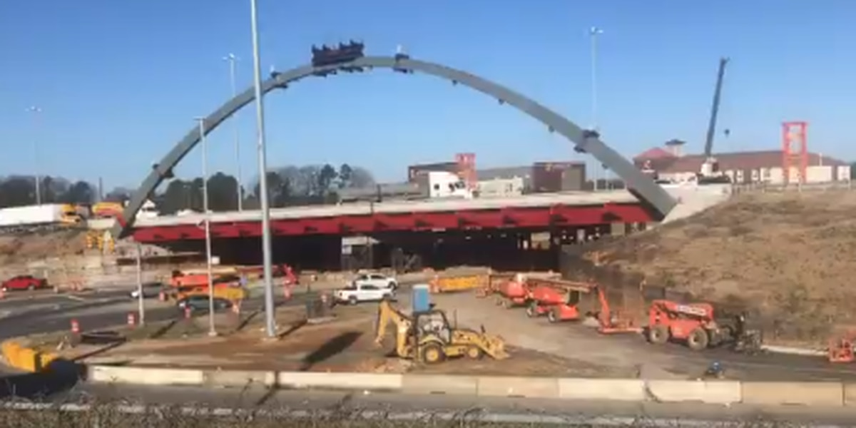 Contractor to remove arch on I-20/59 in Tuscaloosa Sunday
