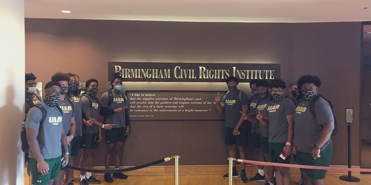 UAB Football visits Birmingham Civil Rights Institute