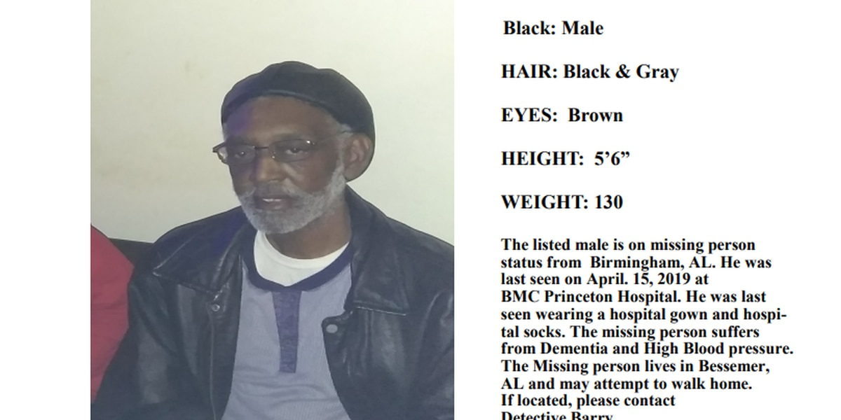 B'ham PD searching for missing man
