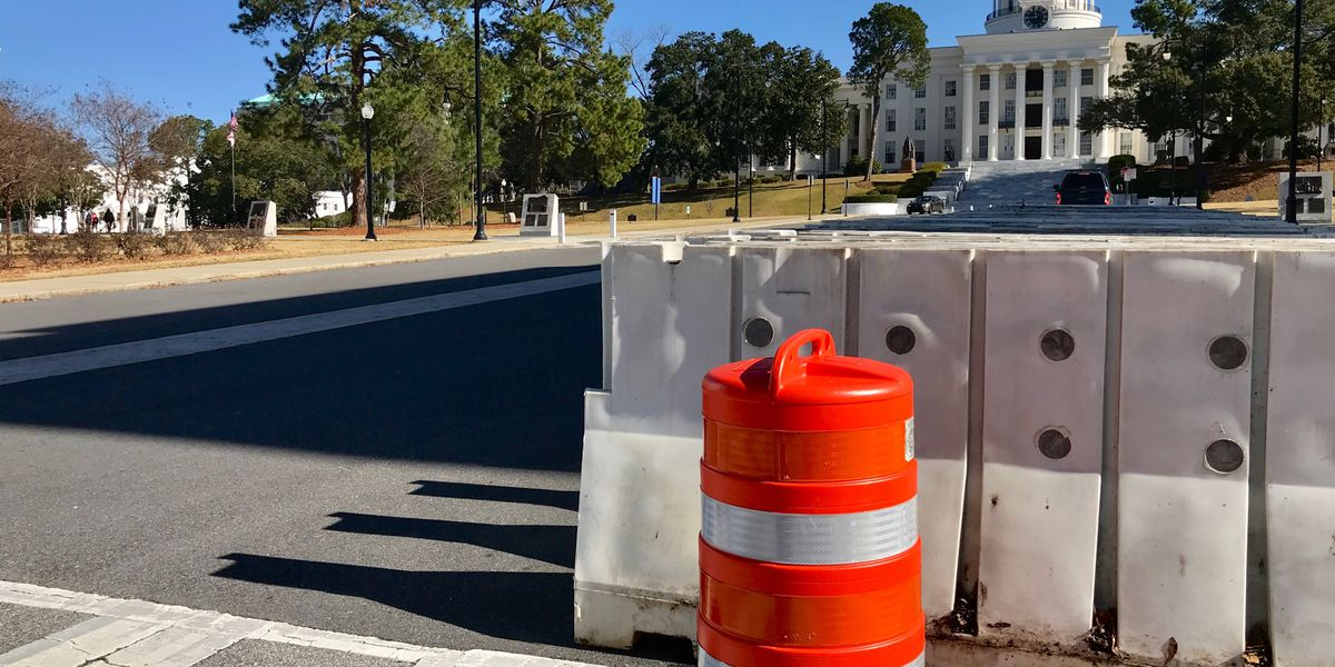 Concrete barricades, cameras set up outside of state capitol