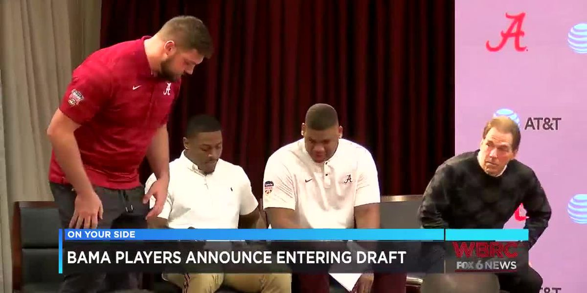 Alabama players announce entering NFL draft