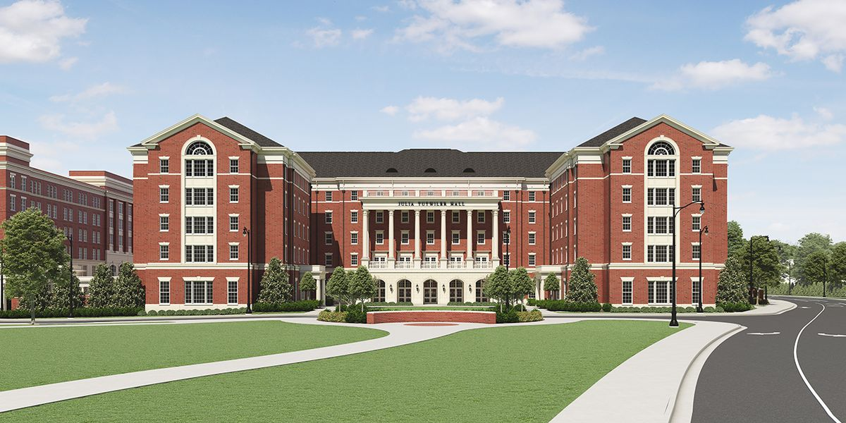 For those of us who lived there in the 90's we're jealous, take a look at the new Tutwiler Hall at UA