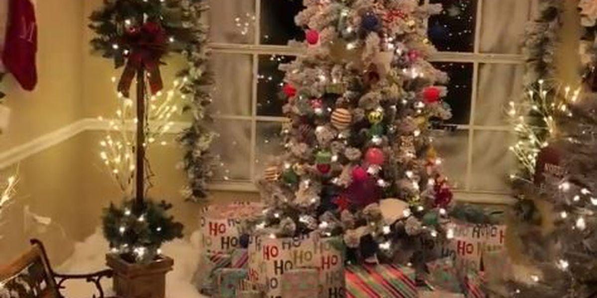man creates winter wonderland inside family s home