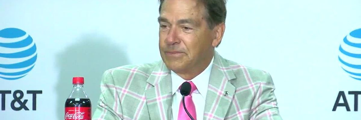 Nick Saban talks about hip injury
