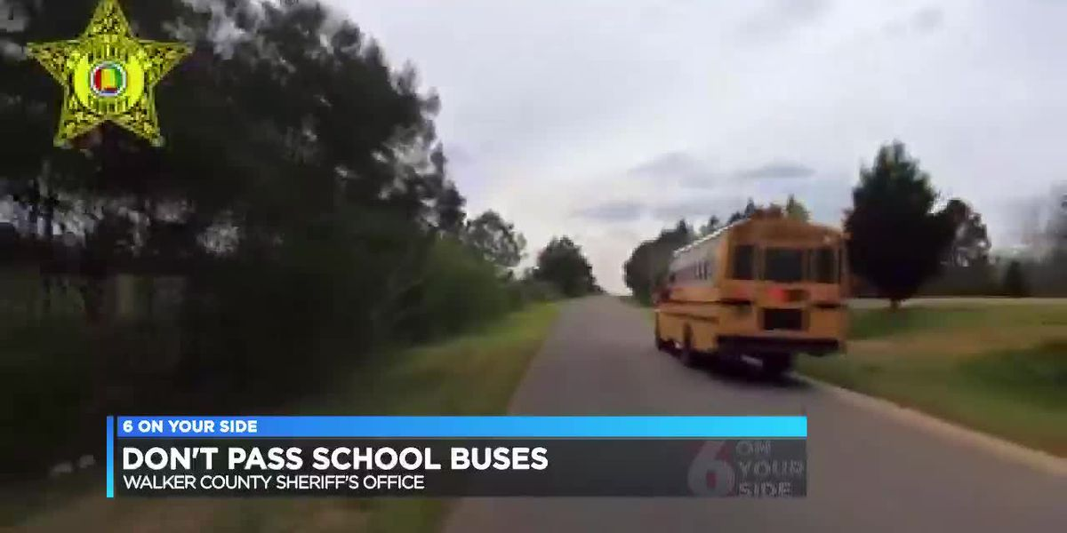 Don't pass school buses in Walker Co.