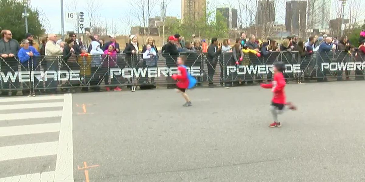 WATCH: K-5 students finish Kids Mercedes-Benz Marathon