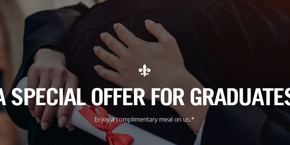 Ruth's Chris Steak House offers free meal for graduates