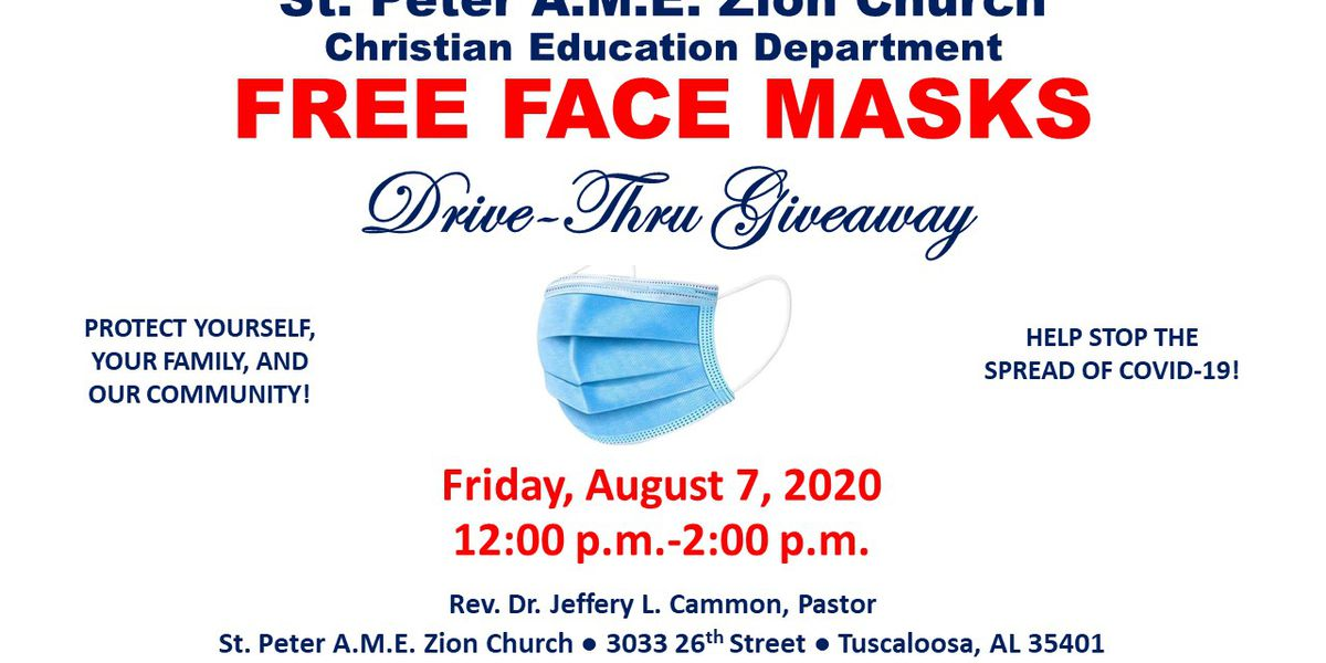 A.M.E. Zion Church hosts free mask give away