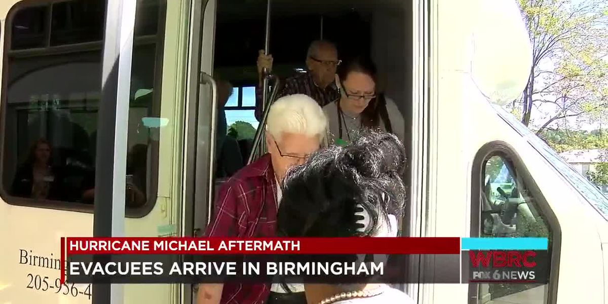 FL evacuees arrive in Birmingham
