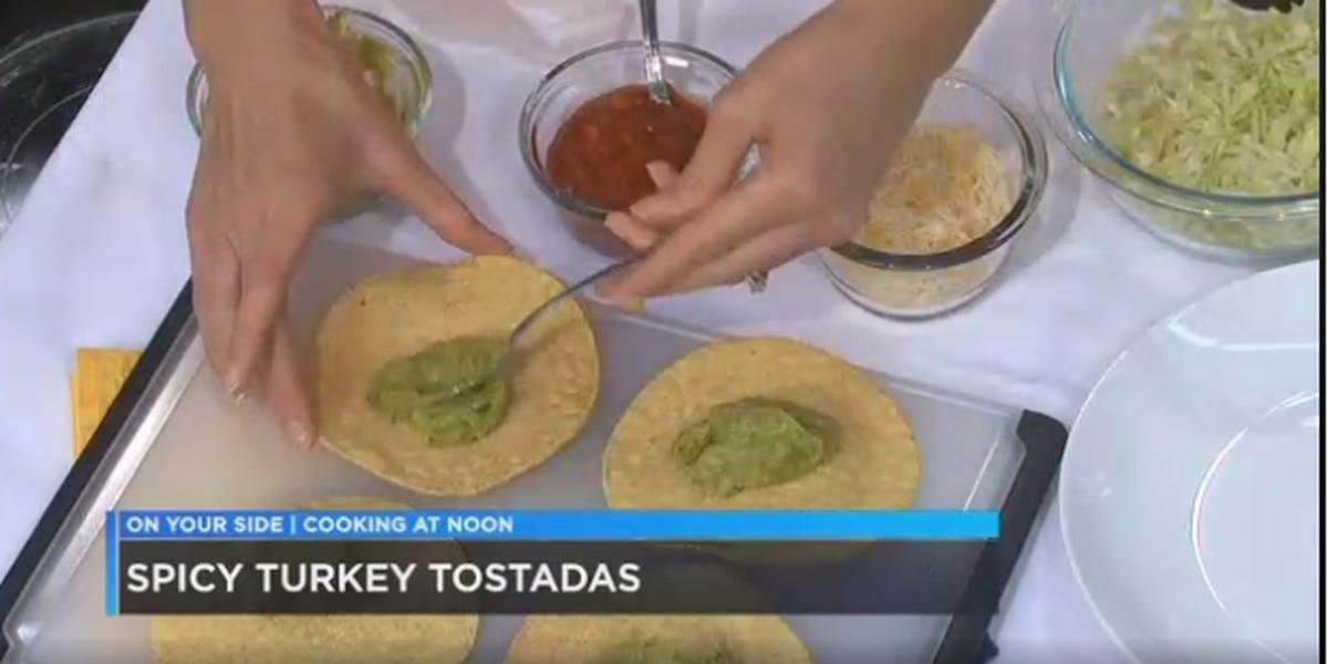 Spicy Turkey Tostadas