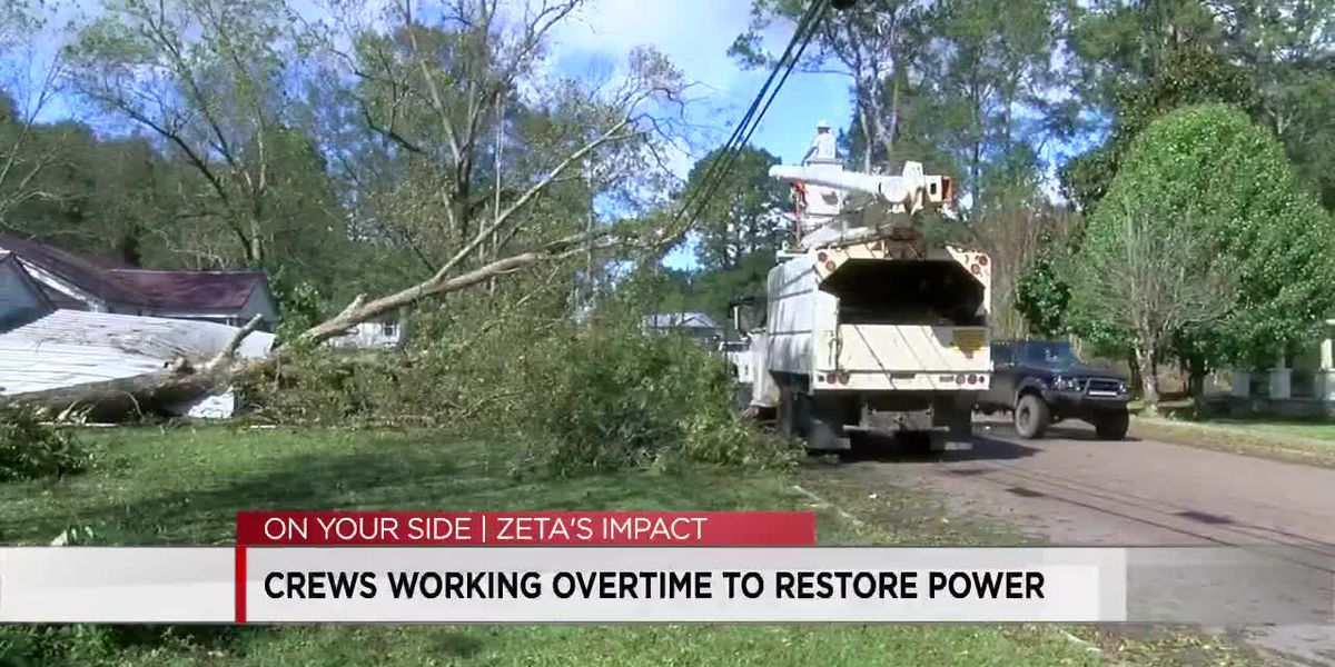 Thousands still without power in Alabama after Zeta