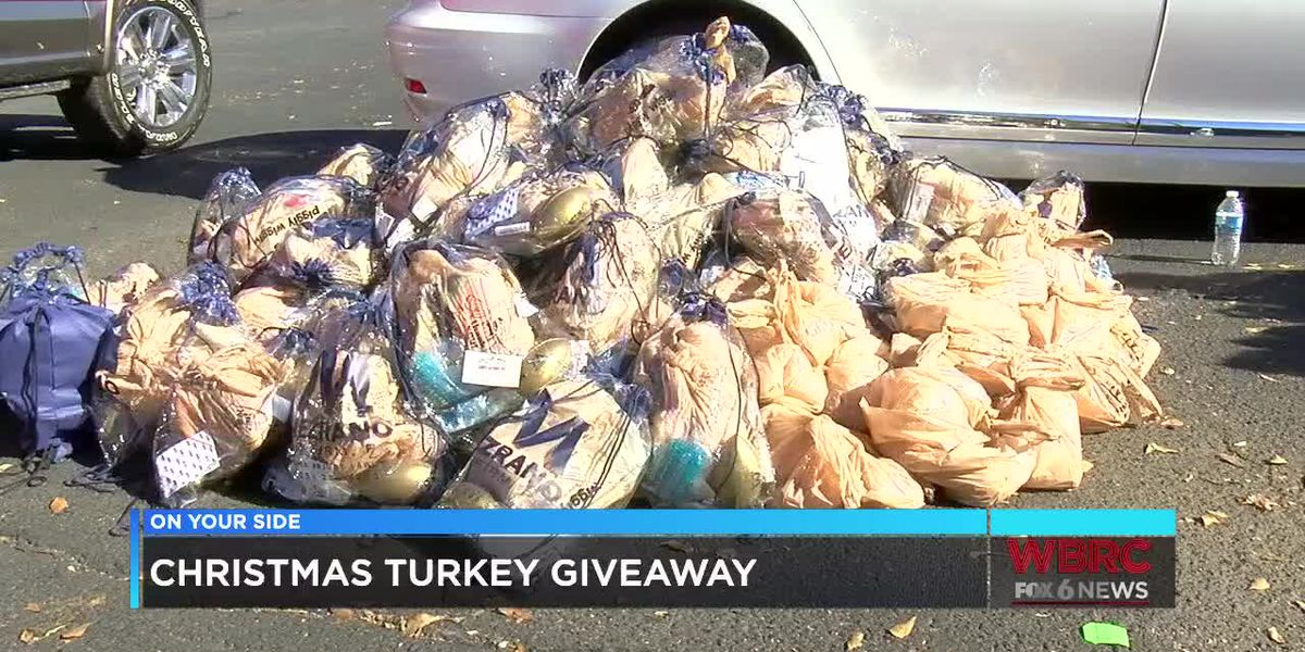 Christmas turkey giveaway in Tuscaloosa