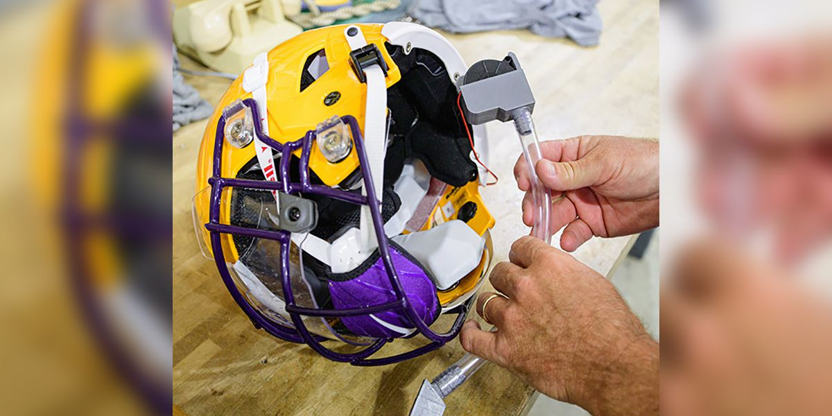 All About Fans: LSU shows off new helmet tech to help protect players from COVID-19
