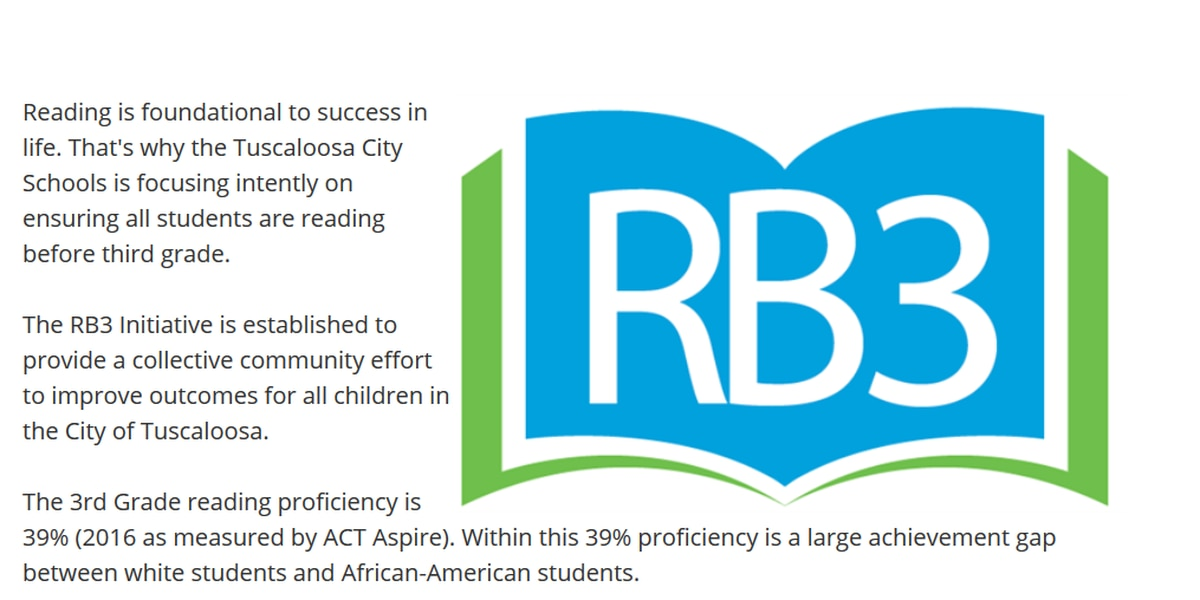 Tuscaloosa City Schools RB3 Initiative already showing positive reading results