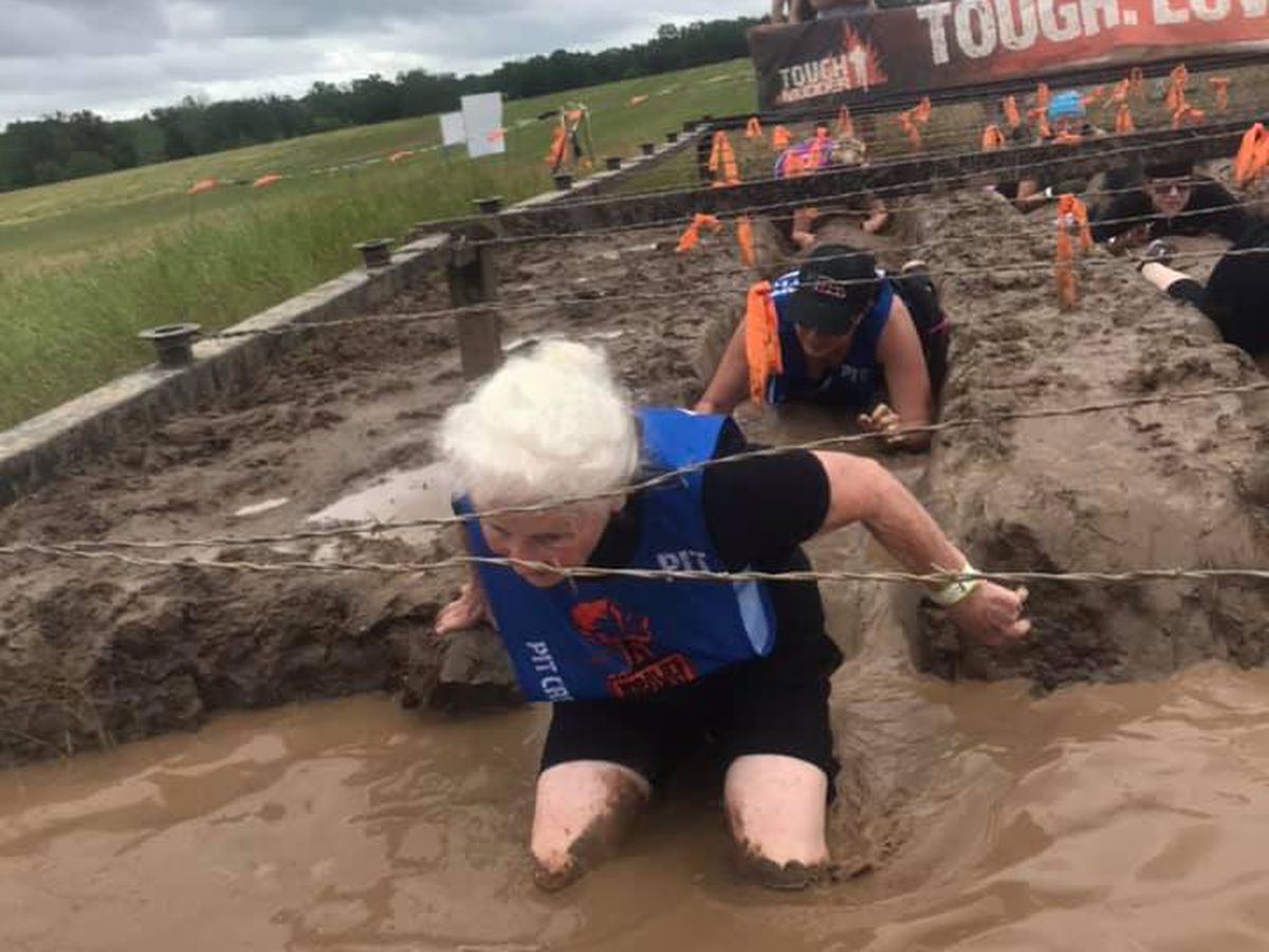 80-year old woman completes Tough Mudder competition