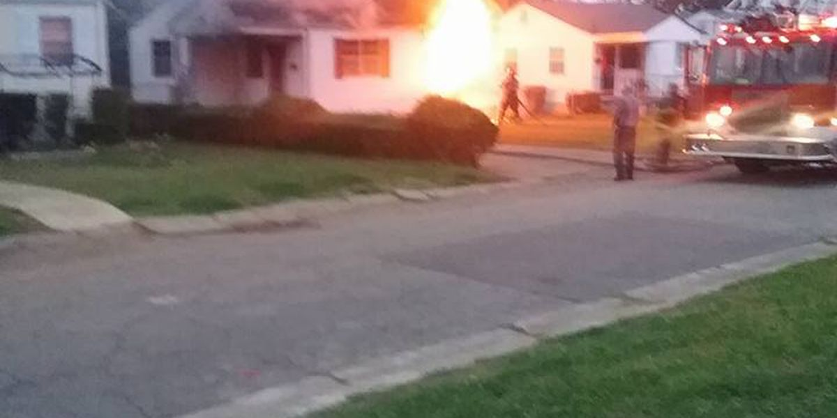 Elderly couple's home caught fire while they did yard work