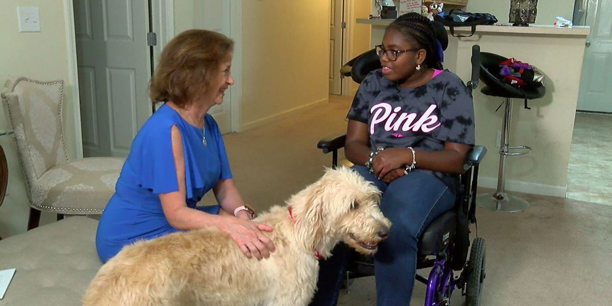 Tallulah is 'on the job' in Gardendale