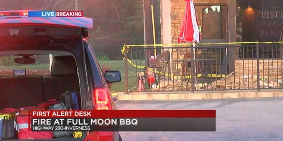 Fire breaks out at Full Moon BBQ on Hwy 280