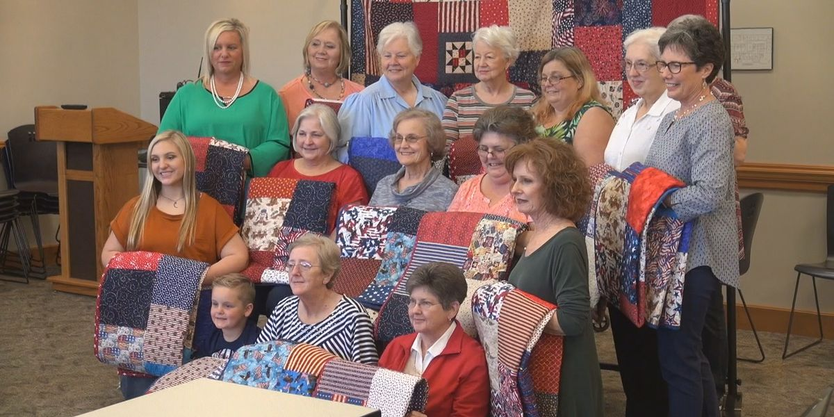 Handmade quilts made in Cullman going to soldiers overseas
