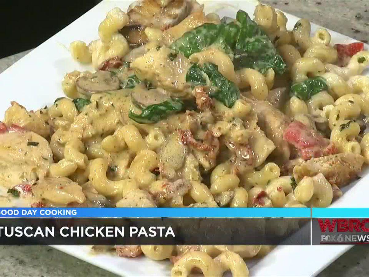 Yo Mama's Tuscan Chicken Pasta