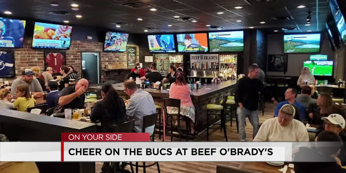 Cheer on the Bucs at Beef O'Brady's