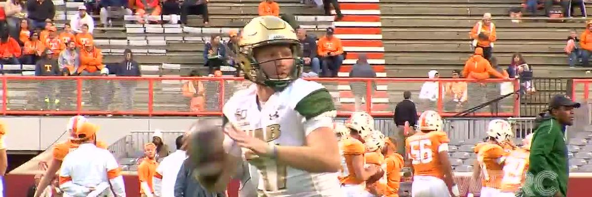UAB warm up vs. Tennessee