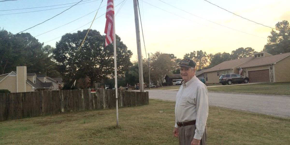 Veteran wants apology from flag vandals