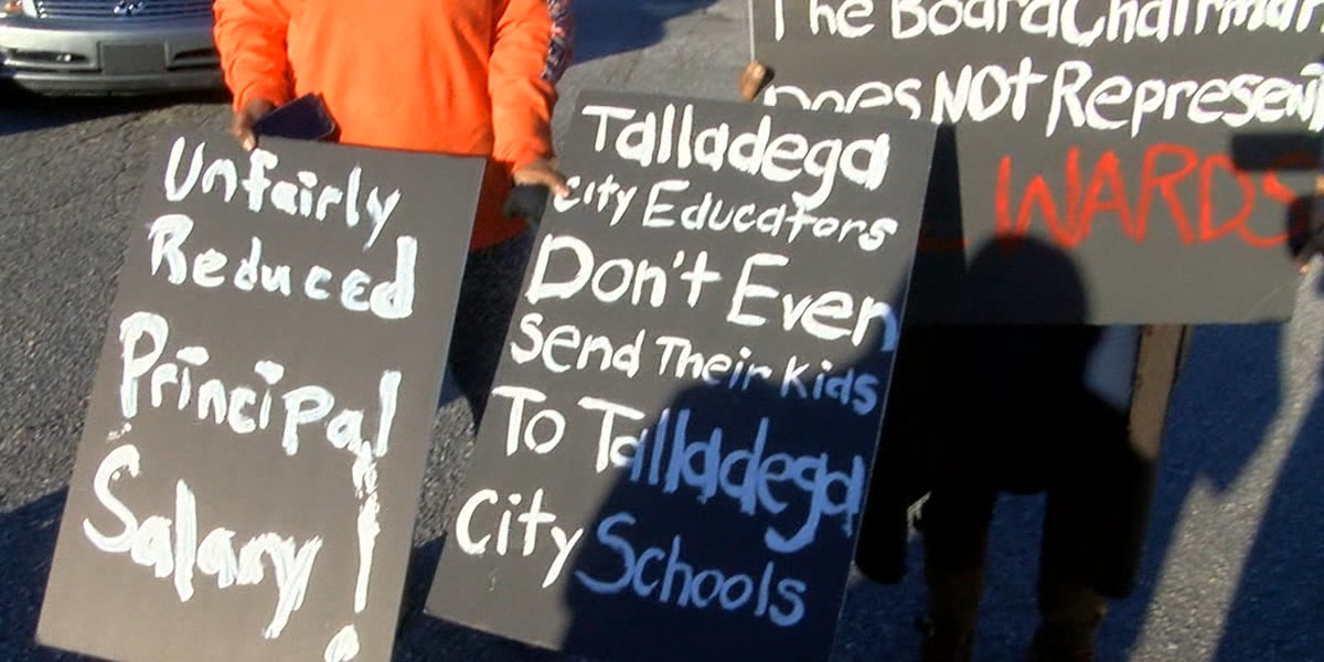 Protesters descend upon Talladega school board