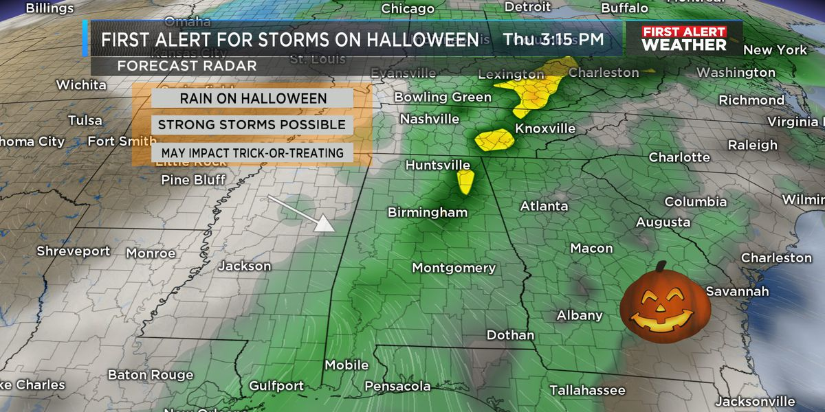 FIRST ALERT: Feeling much cooler for Sunday morning with lingering clouds; First Alert for rain and storms on Halloween