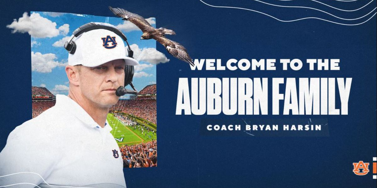 Auburn names Bryan Harsin head football coach