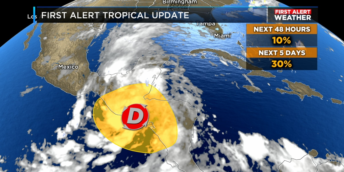 FIRST ALERT: Possible tropical development over the southwest Gulf this week