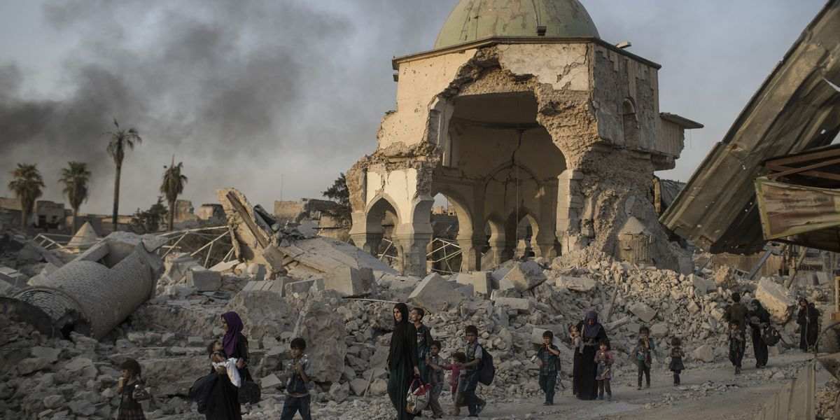 Iraq lays cornerstone to rebuild iconic Mosul mosque