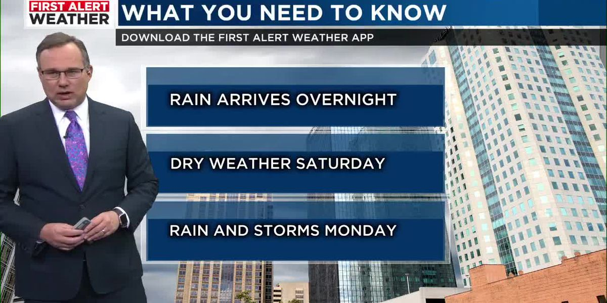 FIRST ALERT: Rain returns tonight and continues through Thursday