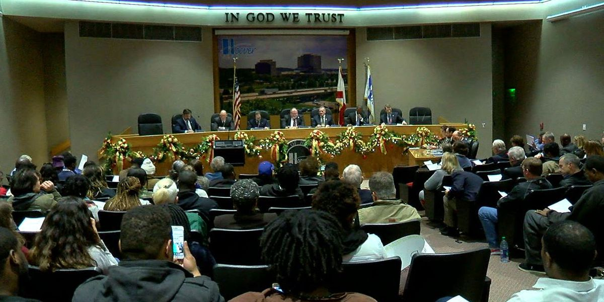 Protesters fill Hoover City Council meeting Monday night