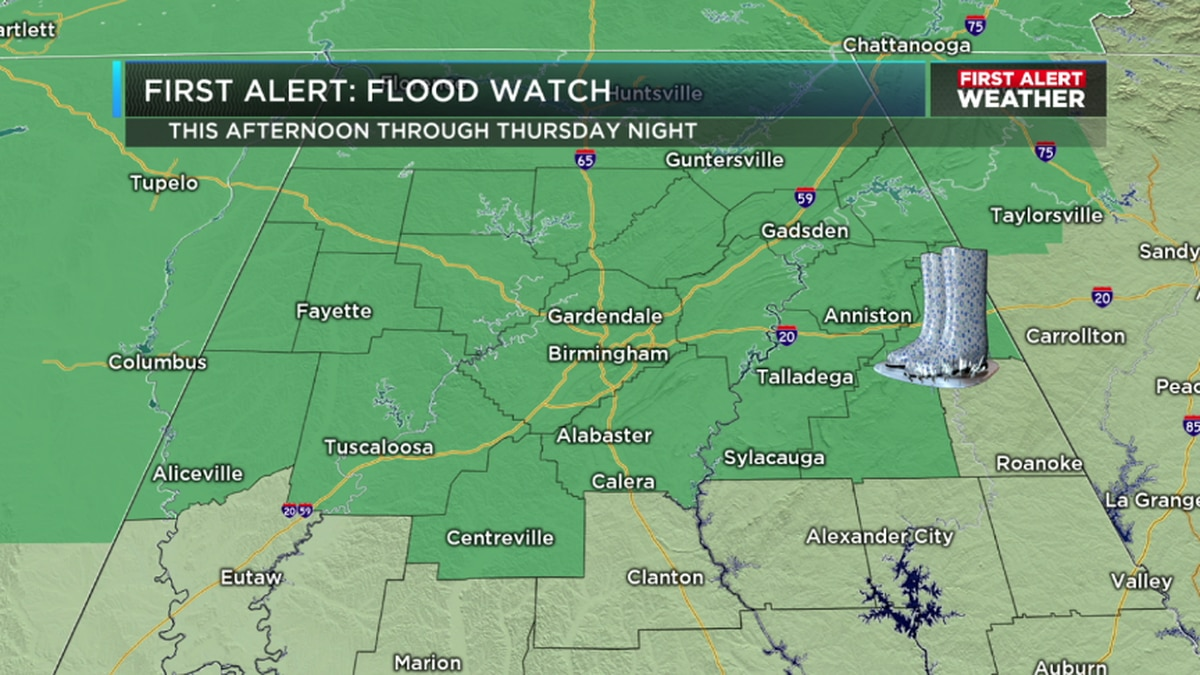 FIRST ALERT: Flood threat continues overnight, with periods of rain and possible storms