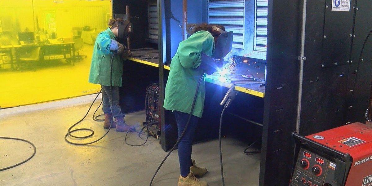 Welding jobs heating up among women