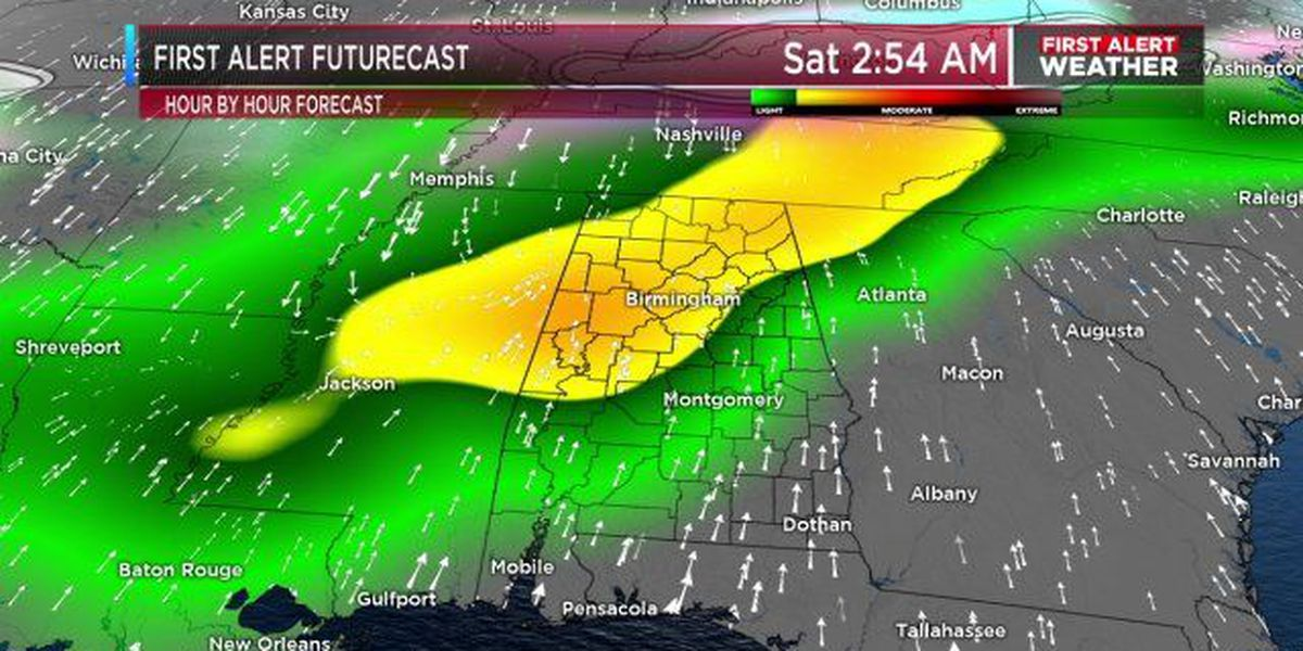 FIRST ALERT: Heavy rain possible for early Saturday morning