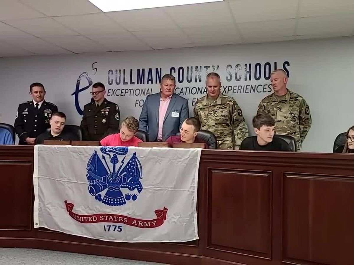 16 students commit at Cullman Co. Schools 1st military signing day